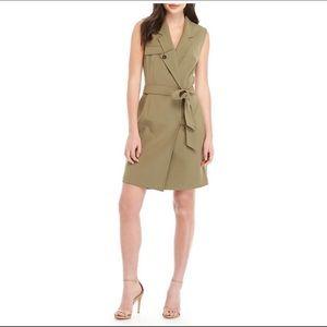 Nine West Jackets & Coats - Nine West olive tie vest